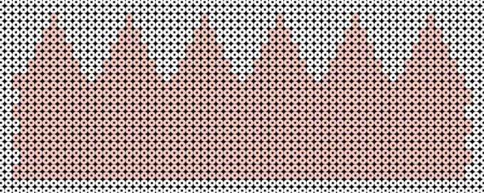 Dette mønster bruges hvis du vil flætte siderne ind i hinanden. Hvis du vil stryge siderne sammen, skal du bruge 'Mønster 1'.